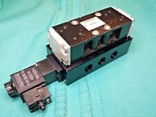 Kuhnke 76083-89-00 Solenoid Operated 4 Way Flip Flop Directional Valve 110Vac