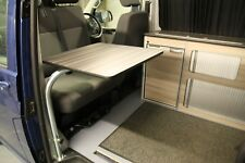 Swing Out,Side Mounted Square Table Set,VW T5 Campervan/Motorhome, Zebrano