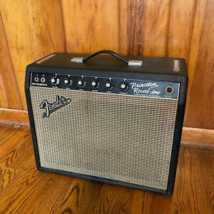 1965 Fender Princeton Reverb Amp w/ Original Footswitch + Cover - (Serviced!)