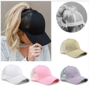 Ponytail Baseball Cap Messy Bun Baseball Hat Snapback Sun Sport Caps Cool