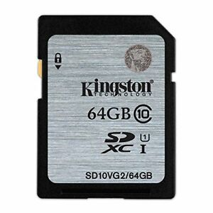 Kingston SD Karte 64GB Class10 UHS - I Kompatibel Sd10vg2/64gb Lebenslange
