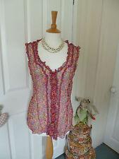 Per Una Chiffon V-Neck Floral Tops & Shirts for Women