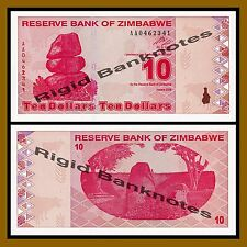 Zimbabwe 10 Dollars, 2009 P-94 Revised Trillion Unc