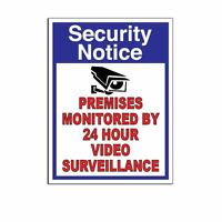 WARNING Security Cameras In Use surveillance Decal Sticker Sign 5.5 in x 7.3 in