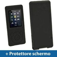 Nero Custodia Silicone per Sony Walkman NWZ-E575 NWZ-E574 Skin Case Cover