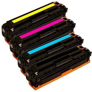 4pk for HP 125A CB540A CB541A CB542A CB543A Toner Cartridge CM1312 CP1215 CP1515