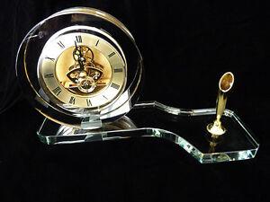 Crystal Table Clock-(made of quality K9 30% Lead Crystal)- model: MCLK-2
