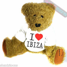 I Love Heart Ibiza Gift Teddy Bear