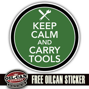 keep calm and carry tools sticker, land rover 4x4 ratlook hood 85 X 85mm