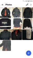 adolfo dominguez wool blend black blazer size44~16uk hardly used