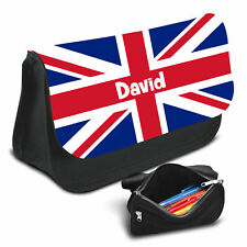UK Flag Personalised Pencil Case Game School Bag Kids Stationary - 01