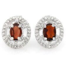 Ohrringe/Ohrstecker Rumer, 925er Silber, 1,04 Kt. echter Granat/Diamant