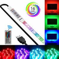 4xUSB LED Strip 5050 RGB Mood Light TV Backlight Multi Color with Remote Control