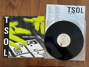 "TSOL - CHANGE TODAY ? - ENIGMA 1984 12""  VINYL LP - EX/VG US HARDCORE PUNK"