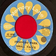 """SMALL FACES Itchycoo Park 1974 USA 7"""" vinyl single EXCELLENT CONDITION"""