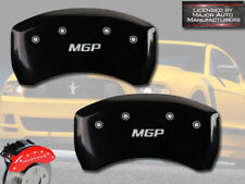 "2011-2013 Ford Mustang Shelby GT350 Black Rear ""MGP"" Brake Disc Caliper Cover 2p"