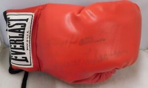 Ingemar Johansson & Floyd Patterson Signed Boxing Glove JSA Authenticated Faded