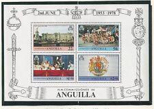 ANGUILLA # 315-318, 318a QUEEN ELIZABETH II CORONATION SILVER JUBILEE SS