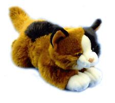 Écaille Ginger Noir Calico Cat Chaton Jouet Doux En Peluche Teddy 38 cm