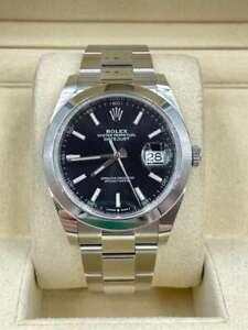 Rolex Datejust 41 black dial 2020