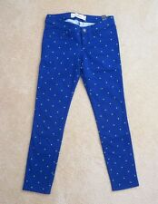 NWT Hollister Womens Skinny Jeans Capris Jeggings Size 0 Polka Dot Pants