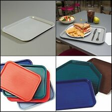 New Indoor Cafe Cafeteria Fast Food Tray Kitchen Dining Serving Plate Stackable