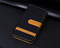 Cowboy Canvas Card slot wallet PU Leather phone cover case for Huawei p10 LN