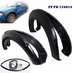1 SET Fender Flare fits 2009-2014 Ford F150 F-150 Pocket Rivet Style Wheel Cover