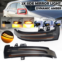 Dual Dynamic LED Side Wing Mirrors Indicator Light For Mercedes Benz W204