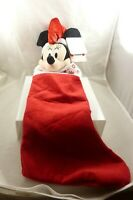 Minnie Mouse Disney Merry Christmas stocking Musical here comes Santa Claus