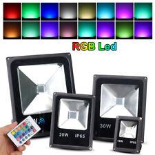 10-50W RGB LED luz de inundación Estanque De Jardín Al Aire Libre Lámparas Spot Hogar 16 Colores Cambiantes
