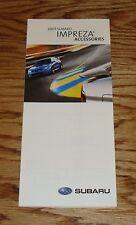 Original 2007 Subaru Impreza Accessories Foldout Sales Brochure 07
