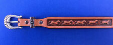 "Western Rodeo Cowboy Decor Tooled Top Grain Natural Leather HAT BAND 1/2"" Wide"