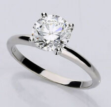 Anillos de joyería con diamantes brillantes de oro blanco VS2
