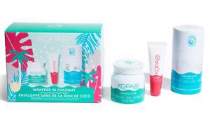 Kopari Wrapped in Coconut Kit Coconut Melt Lip Gloss Deodorant NEW Boxed Set