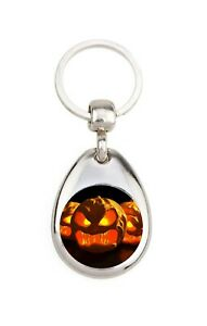 Porte clé en métal - Halloween - Jack o lantern 2