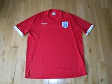 UMBRO ENGLAND NATIONAL TEAM FOOTBALL FUTEBOL SOCCER 2010 AWAY JERSEY KIT MENS 48