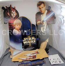 Star Wars Episode 1 Cardboard Video Display Obi Wan Kenobi Queen Amidala Anakin