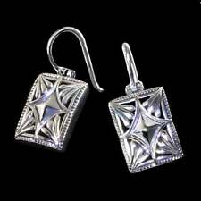 PRETTY_ GEOMETRIC-SHAPE CUTOUT EARRINGS_925 STERLING SILVER