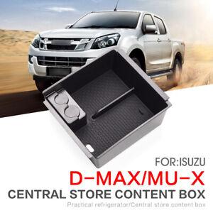 Armrest Box Storage for Isuzu D-MAX MU-X 2012 - 2019 DMAX MUX Tidying box BLACK