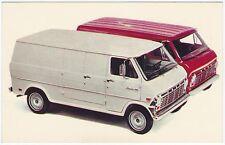 1969 Ford Trucks ECONOLINES 2 Vans Original NOS Dealer Promotional Postcard Ex ^