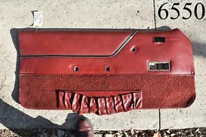 1981-1986 Ford Mustang Convertible Power Window Driver LH Door Panel Red OEM