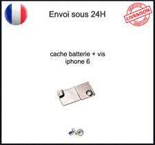 Plaque Cache en Fer Fixation Protection Connecteur Batterie + Vis Iphone 6