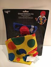 CLOWN COSTUME KIT TIE GLASSES W/ ATTACHED NOSE HALLOWEEN COSTUME