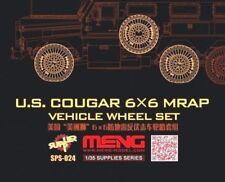 Meng models 1:35 us cougar 6X6 mrap véhicule affaissée roue set resin model kit