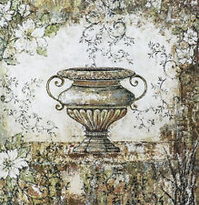 """""""Urn Garden"""" by Wendy Carlson 25x25"""" Reproduction"""