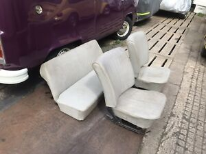 Classic VW Volkswagen Beetle 1971 Grey Basket Weave Front and Rear seat set