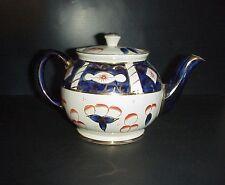 Vintage SADLER Teapot Cobalt Imari Blue Made England
