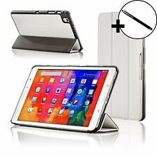 Leather White Smart Folding Case Cover for Samsung Galaxy Tab PRO 8.4 + Stylus