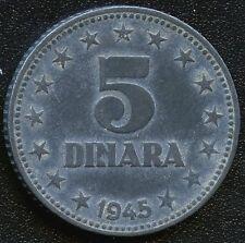 1945 Yugoslavia 5 Dinara Coin
